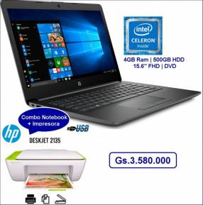 Notebook HP intel celeron con impresora HP