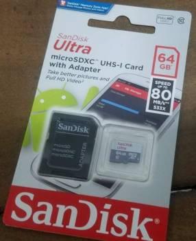 Memoria Micro SD 64 GB Scan Disk UHS-1 Clase 10