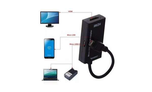 Conector 2 en 1 HDMI micro usb y tipo C - 5