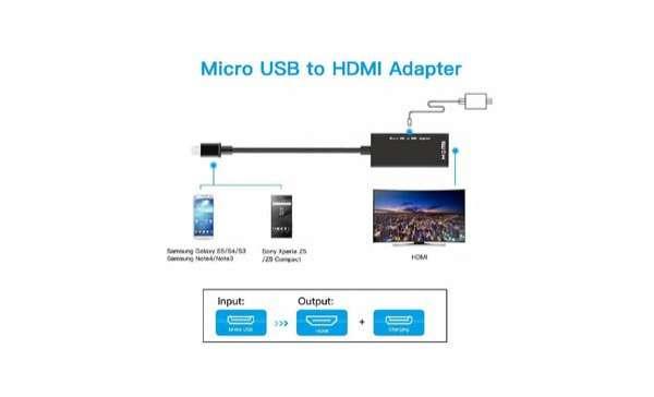 Conector 2 en 1 HDMI micro usb y tipo C - 3