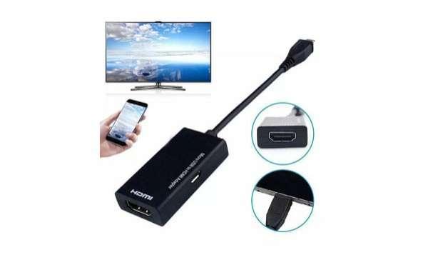 Conector 2 en 1 HDMI micro usb y tipo C - 0