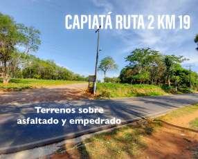 Terreno en Capiatá ruta 2 km 19