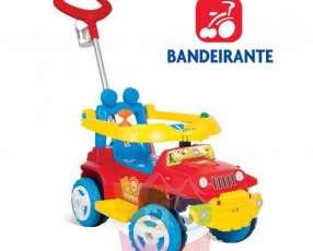Autito Jeep Paseo y Andador Rojo Bandeirante 1054