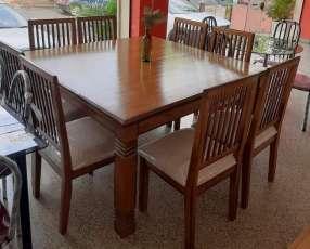 Mesa Cabrini con 8 sillas