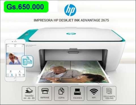 Impresora HP multifunción 2675 wifi