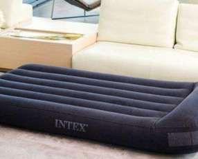 Colchón Inflable 1 plaza almohada integrada e inflador