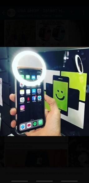 Luz para selfies
