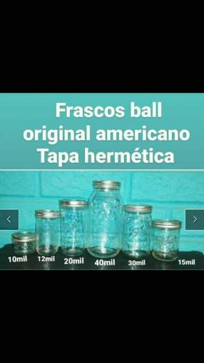Frascos ball en varios tamaños