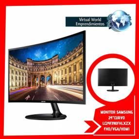 Monitor Samsung 24 pulgadas curvo LC24F390FHLXZX FHD/VGA/HDMI