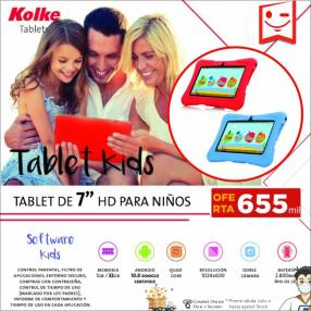 Tablet para niños Kolke HD 7 pulgadas
