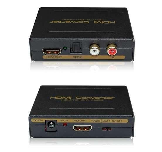 Separador de Audio HDMI   HDR   con Audio Óptico Toslink   - 0