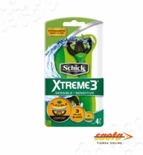 Máquina de afeitar descartable x 4 unidades Schick Xtreme 3