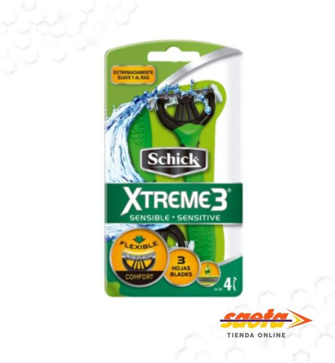 Máquina de afeitar descartable x 4 unidades Schick Xtreme 3 - 0