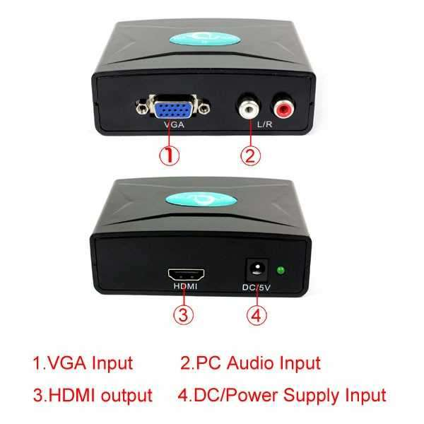 Conversor De Video VGA a HDMI - 1