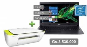 Notebook Acer A315-34-C7BT con Impresora HP