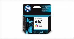 Cartucho HP 667 negro