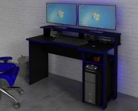 Escritorio gamer negro/azul 3382