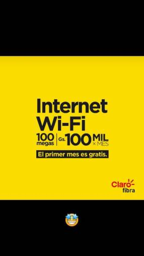 Internet de fibra óptica Claro