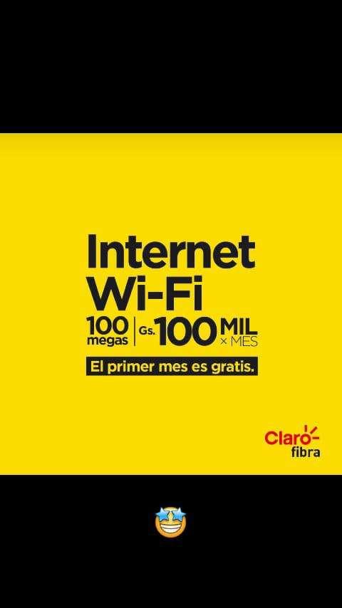 Internet de fibra óptica Claro - 0
