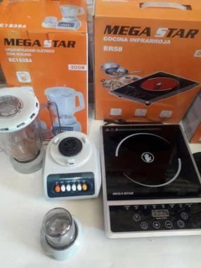 Placa infrarroja con licuadora Mega Star