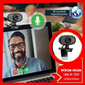 Cámara web argomtech 720P c/micrófono incorporado