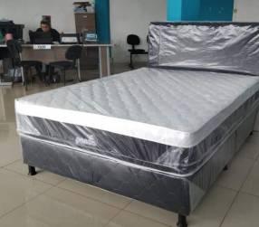 Sommier Panda 140x190 colchón con resorte nuevo sin uso