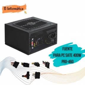 Fuente de alimentación para PC Sate 400W Pro 460
