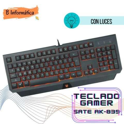 Teclado Gamer con luces Sate AK839