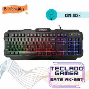 Teclado Gamer con luces led Sate AK837