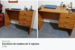 Escritório de Madera c/3 Cajones