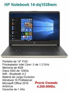 HP Notebook Core i3/4Gb/SSD256/14