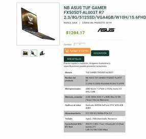Notebook Asus TUF Gamer Full HD