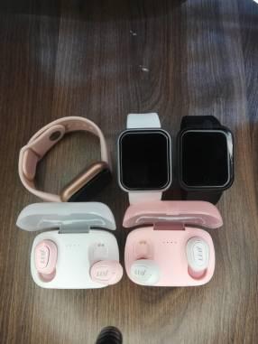 Auriculares i12 tws y smartwatch D20