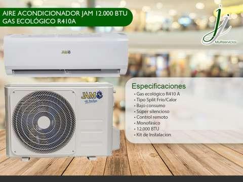 Aire acondicionador jam 12.000 btu ecológico + instalación