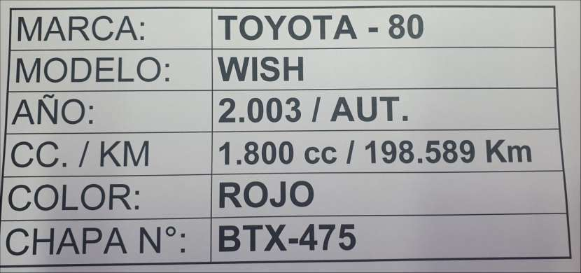 Toyota Wish 2003 motor 1800 naftero automático 4x2 - 8