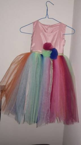 Vestido Unicornio para niña de 3 a 6 años