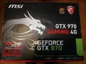 Tarjeta de video gamer gtx 970 4g