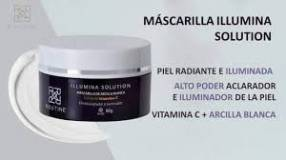 Mascarilla Illumina Solution arcilla blanca