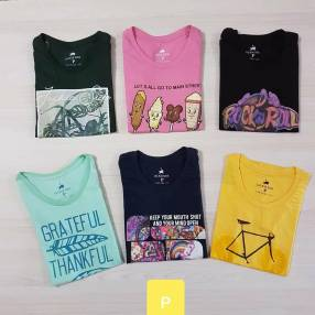 Remeras Jackie Side para damas