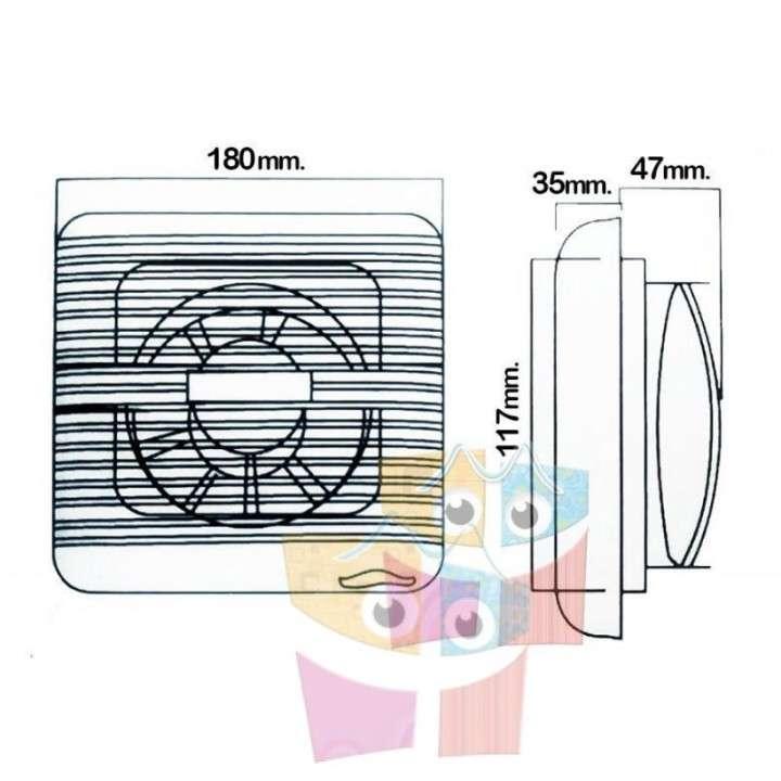 """Ventilador para Incubadora de Huevos - Diametro 5"""" - 15 Watt - 1"""