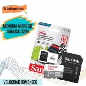 Memoria Micro SD Sandisk 32 gb