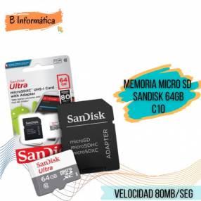 Memoria Micro SD Sandisk 64 gb