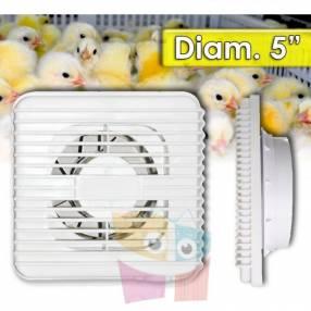 """Ventilador para Incubadora de Huevos - Diametro 5"""" - 15 Watt"""