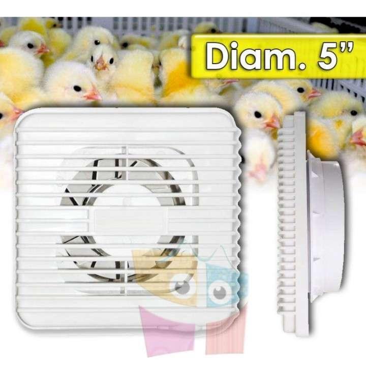 """Ventilador para Incubadora de Huevos - Diametro 5"""" - 15 Watt - 0"""