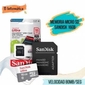 Memoria Micro SD Sandisk 16 gb