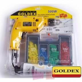 Kit Taladro 13mm 500W c/ Accesorios Goldex 3558