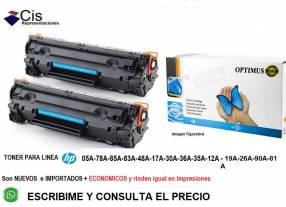 Tóner para impresoras HP