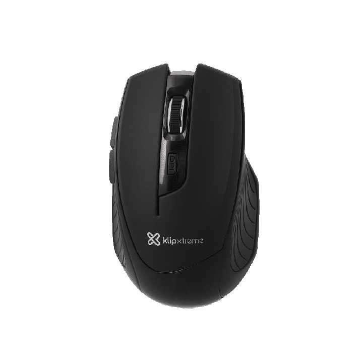 Mouse Klip Vortex inalámbrico 1600dpi/3D 6 botones negro - 1