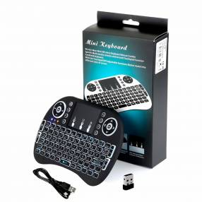 Mini Teclado Keyboard Inalámbrico Iluminado Luz Led Smart Tv