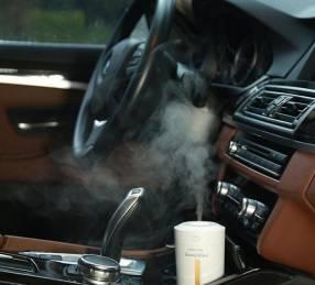 Humidificador y aromatizador para auto